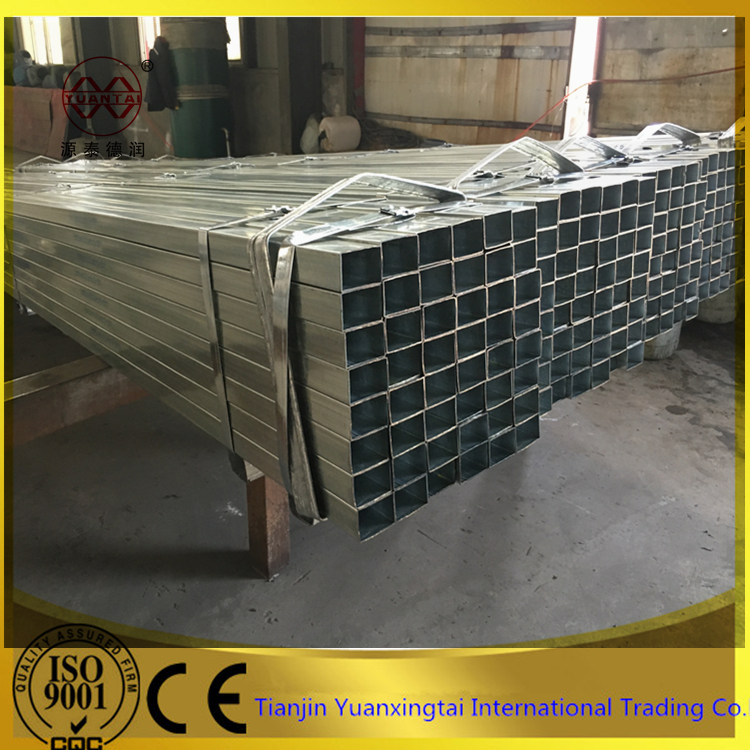 hot dipped galvanized rectangular erw steel pipe gi pipe steel tube for building materials