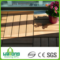 China Alibaba terrace WPC decking flooring used basketball court