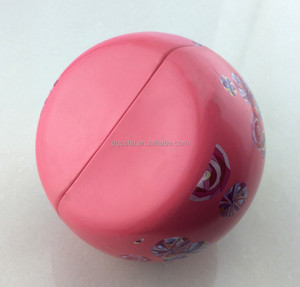 Muti-functional stand tin ball christmas promotional metal ball