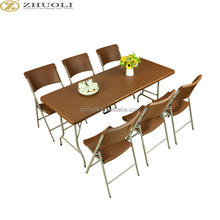 outdoor hdpe plastic cheap garden beach banquet event tables and chairs