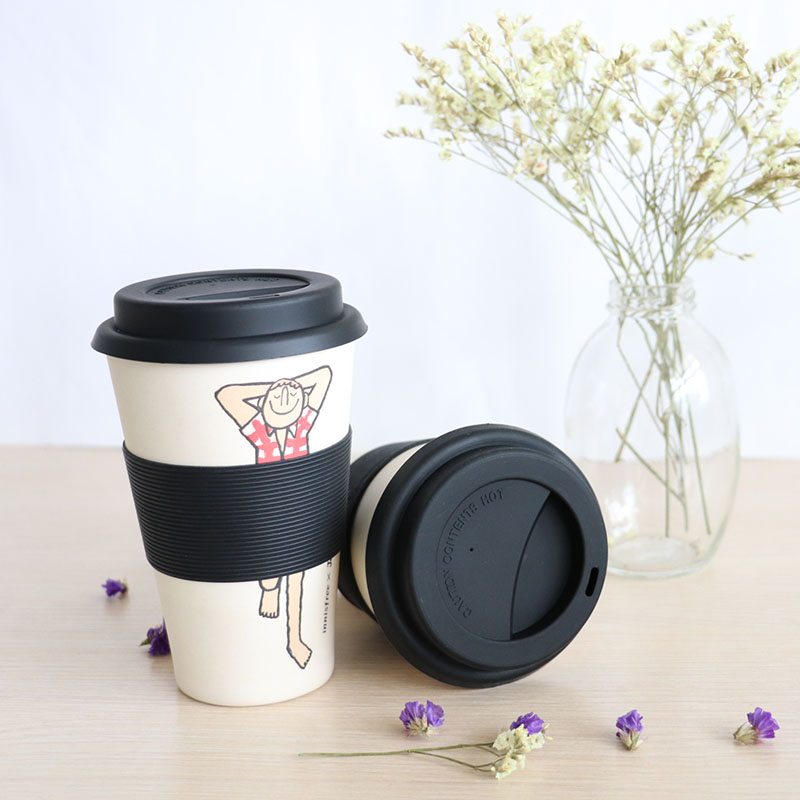 Biodegradable Bamboo Fiber Coffee Travel Mug <strong>Cup</strong>