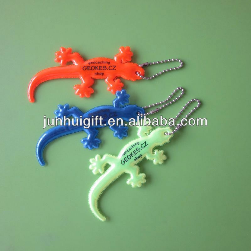 Cheap promotional gift gecko shape animal pvc keyring