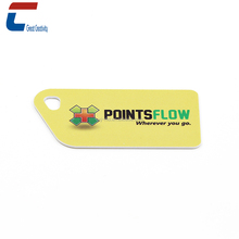 Non-standard size custom CMYK printing hole punched rfid gym membership NFC key card