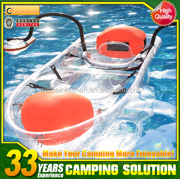 New Design 2 Person Transparent Fishing Kayaks for sale