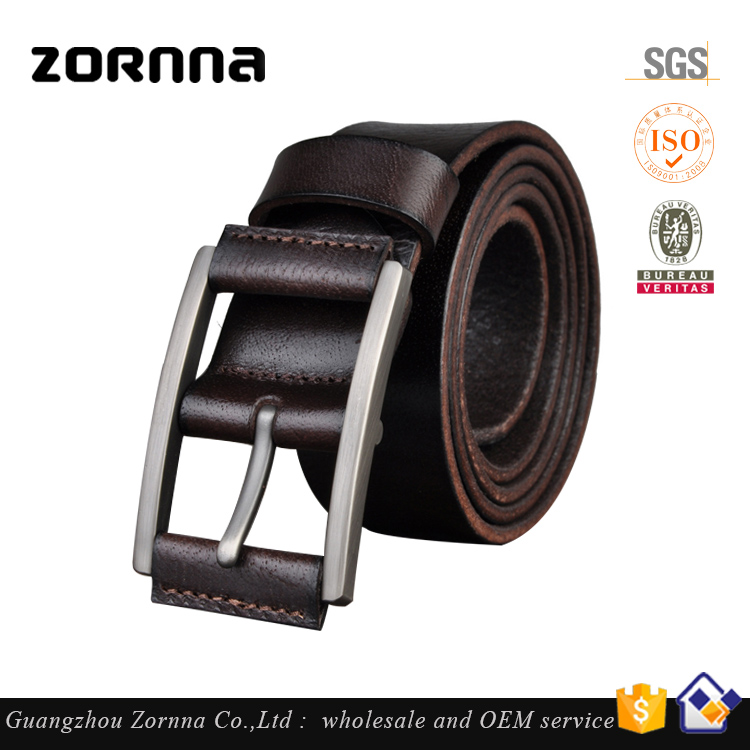 Hot selling promotional mens leather belts 100% genuine men's brand military belt leather