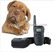 LCD Shock vibrate remote no bark pet dog training collar 998D