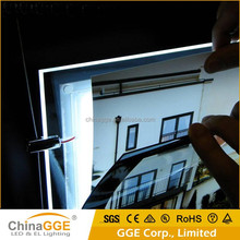 Advertising Display LED Illuminated Crystal Acrylic Magnetic Open Poster Insert LED Light Frame