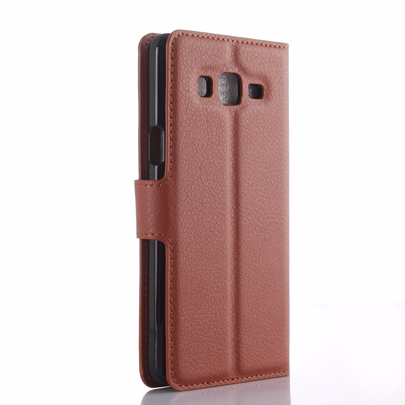 leather wallet mobile phone case for samsung galaxy on5