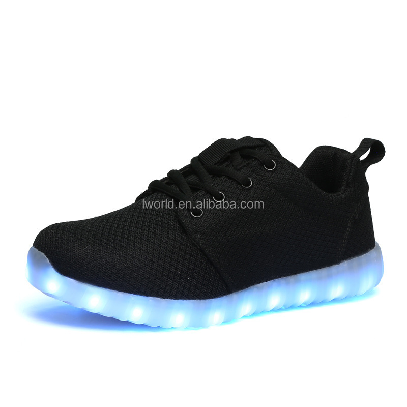 Air breathable led shoes Flashing light up shoes on Autumn Spring led light running shoes