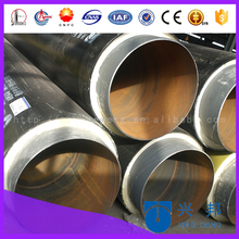 undergorund construction material of pre insulated steel piping with pu foamed
