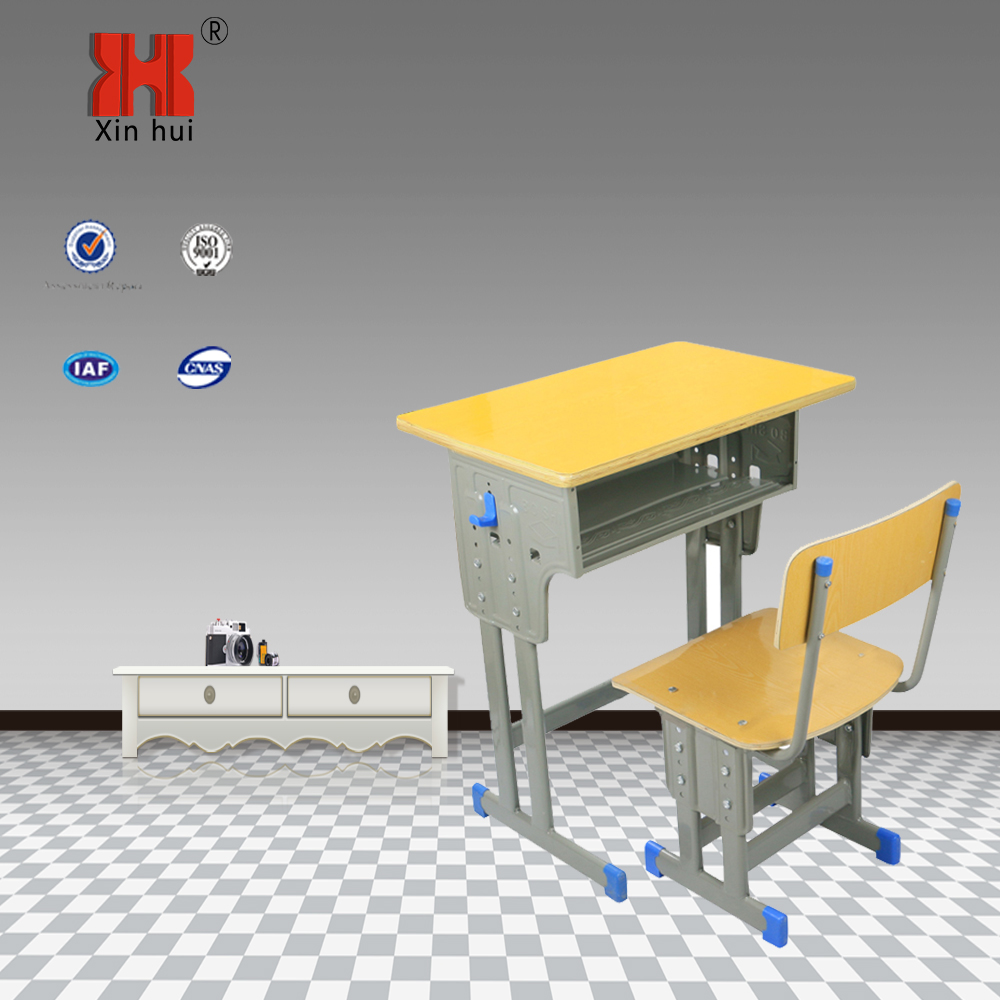 Middle school desk metal frame students desk and chair hot sale