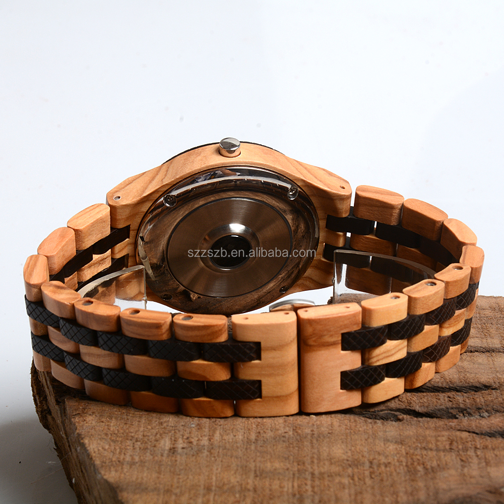 Luxury Waterproof Bluetooth Digital Sport Smart Watch New Product Wooden Smart Watch