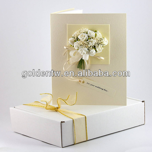 handmade greeting card boxes wholesale/best wishes paper greeting cards