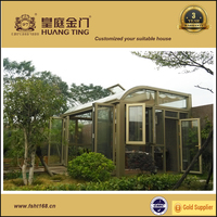 Modern European design aluminum frame sun room, prefabricated glass house,garden sun rooms