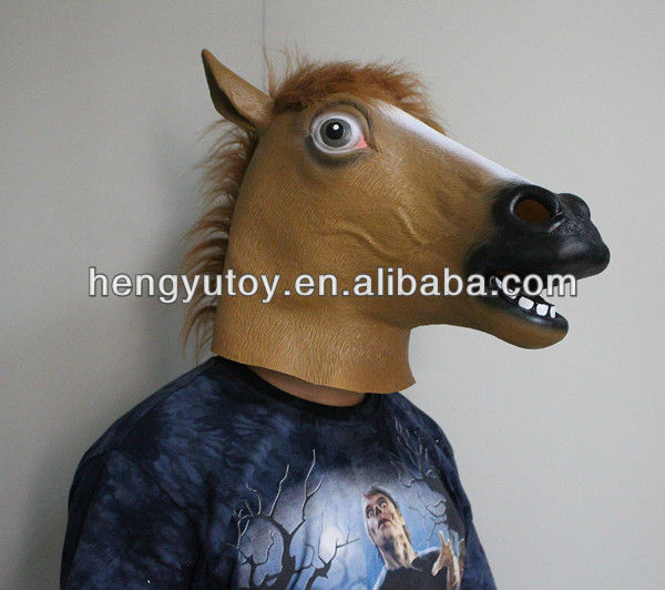 Hot-selling Realistic Masquerade Masks Bulk Latex Horse Head Mask
