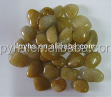 patio yellow pebble stone import