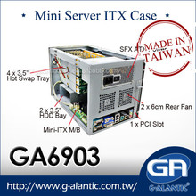GA6903 - Mini ITX Case for Cloud Computing Server with 4 hot swap