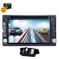 Universal 6.2inch Digital Touch Screen 2Din Car DVD Player GPS Navigator SD USB RDS Radio SWC Bluetooth Backup Camera