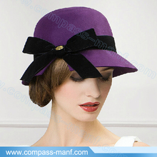 Fashion New Women Vintage Wool Round Cloche Cap Bowler hat
