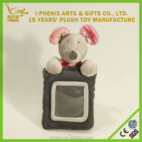 Cartoon plush photo/ picture frame stuffed animal mouse mouse plush toy plush hanging mouse toys