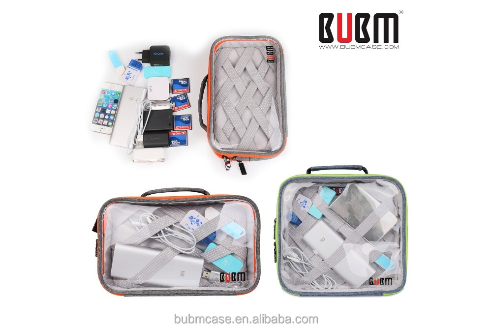 BUBM clear washed pvc cross body bag waterproof travel bag for lady
