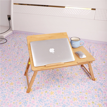 Reliable quality laptop lap desk with cooling fan adjustable laptop table for bed bamboo bed table laptop