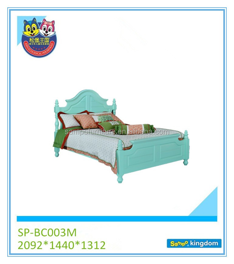 kids furniture Hand-carved technique new design solid wood bed for children with fantastic design SP-BC003M
