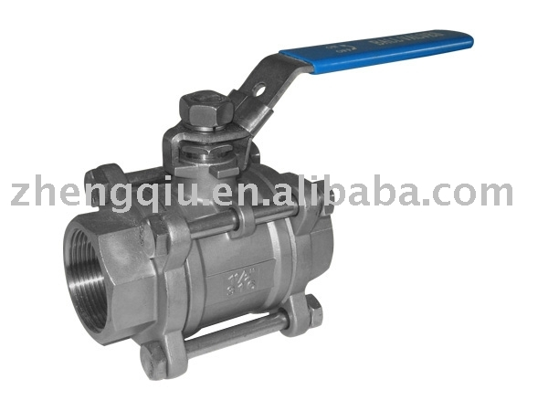 Carbon Steel 1pc 3PC Screw Threaded Full Bore 1000PSI Stainless Steel Ball Valve With ISO5211 Direct Mounting check ball valve