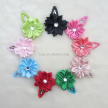 MX1043 multicolor New design Pink cotton flower pressure clamp