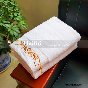 luxury hotel bath towel with dobby embroidery logo 16S/1 hotel bath towel