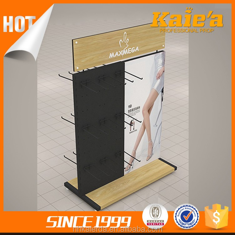 20 years experience shop display wood socks display rack