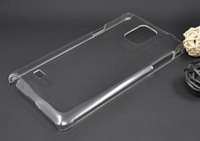 Hot! High Quality transparent hard plastic pc case for Samsung Galaxy Note 4