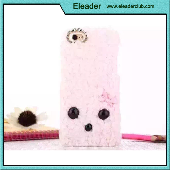 Furry cute cover case for iphone 6 plus