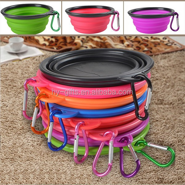 magnetic promotion pet bowl hook carrier fda silicone pet bowl