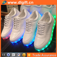 2016 fashion PU girls light light up running shoes adult USB rechargeable led shoes