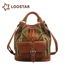 LLSF1492-B4-L Middle Aged Ladies Canvas Systyle Handbags