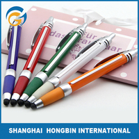 Colorful Advertising Banner Ball Pen with Screen Touch
