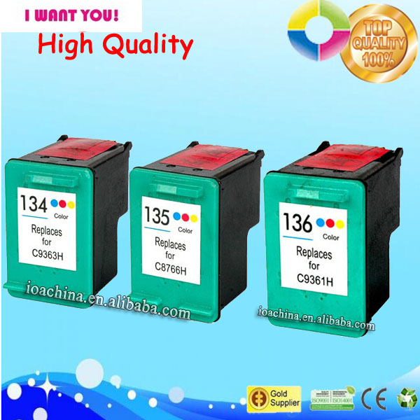 Hot sale! factory supply ink cartridge for HP 134 C9363HE ink cartridge remanufactured