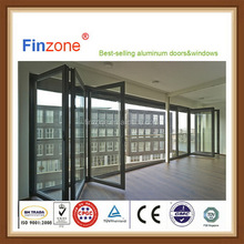 Contemporary popular style double glazing aluminum bi folding door