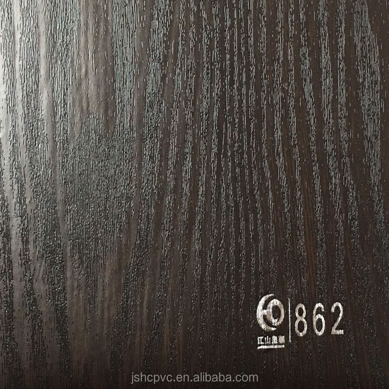3D Wood grain PVC lamination film of MDF door skim