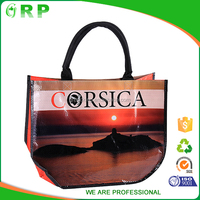 ISO/BSCI Seaside Sunset High Quality Digital Print Personalized Women Handbags