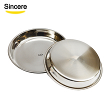 Mirror Polishing Stainless Steel Round Dinner Tray /Dish / <strong>Plate</strong> 20cm