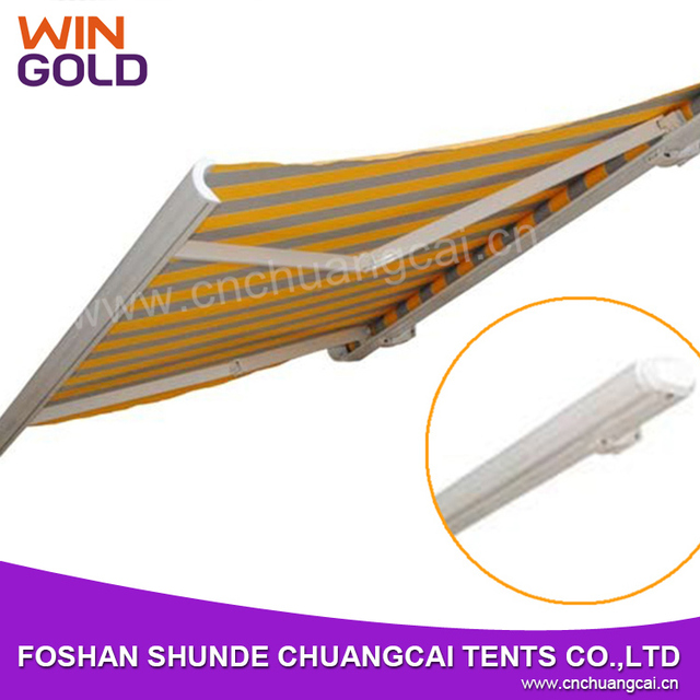 Full cassette folding arm detachable outdoor awning