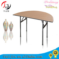 customized competetive price wooden adjustable cocktail table for outdoor on sale