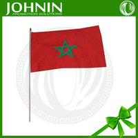 Double side printed with plastic flagpole Morocco Flags national