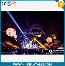 Ceiling hanging decoration luminous planet cheap custom inflatable planet in different colors