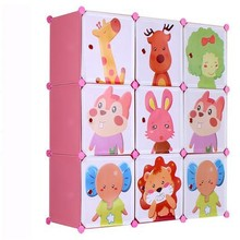 9 cubes kids cartoon plastic chest of drawer