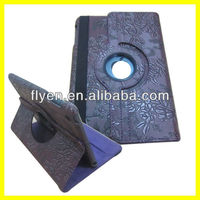 Manufacturer Wholesale Leather Stand Magnetic Rotating 360 Degree Case for iPad mini Smart Cover 2013 Hot Selling