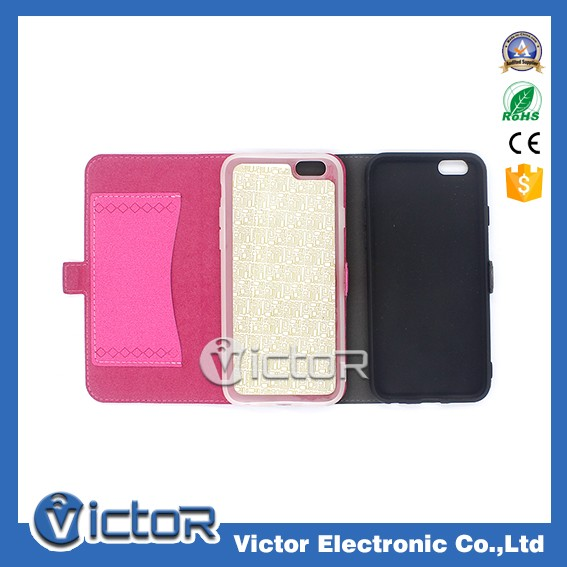 New Arrived For iPhone 7 Smart Leather Phone Case with Card Slot and Bill Slot