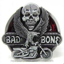 Factory cheap motorbike and engine western belt buckles